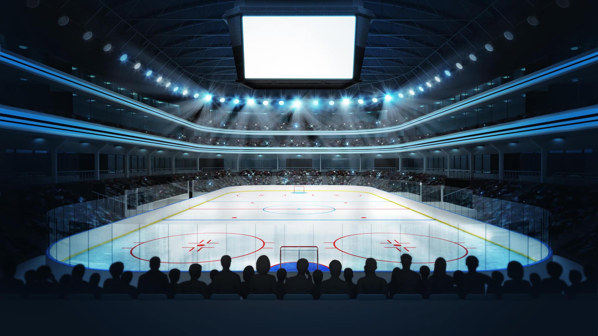 Hockey Stadium with Fans