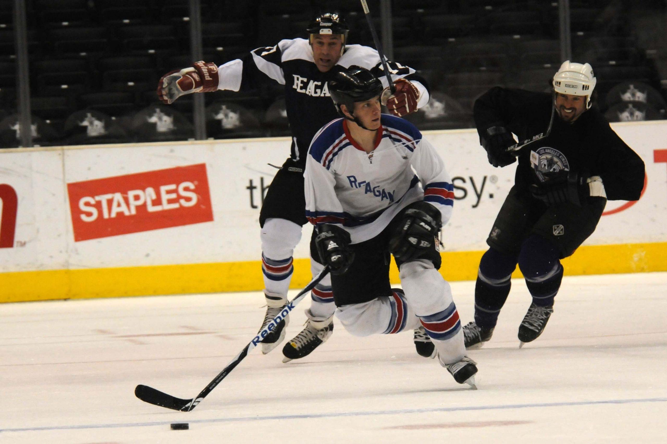 Hockey player on a breakaway