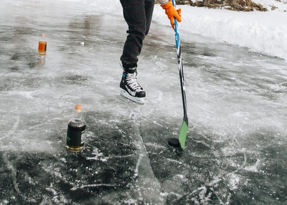 Hockey stick foot shot