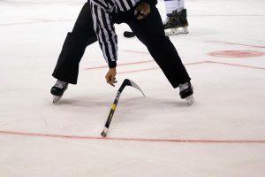 Layed down hockey stick