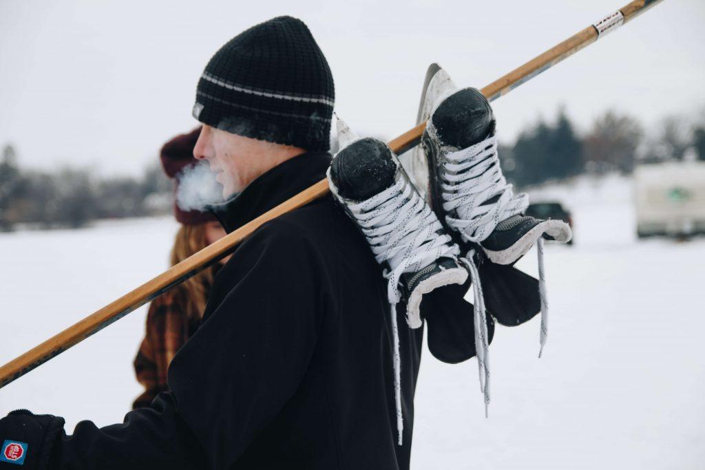 Hockey Skates on Stick