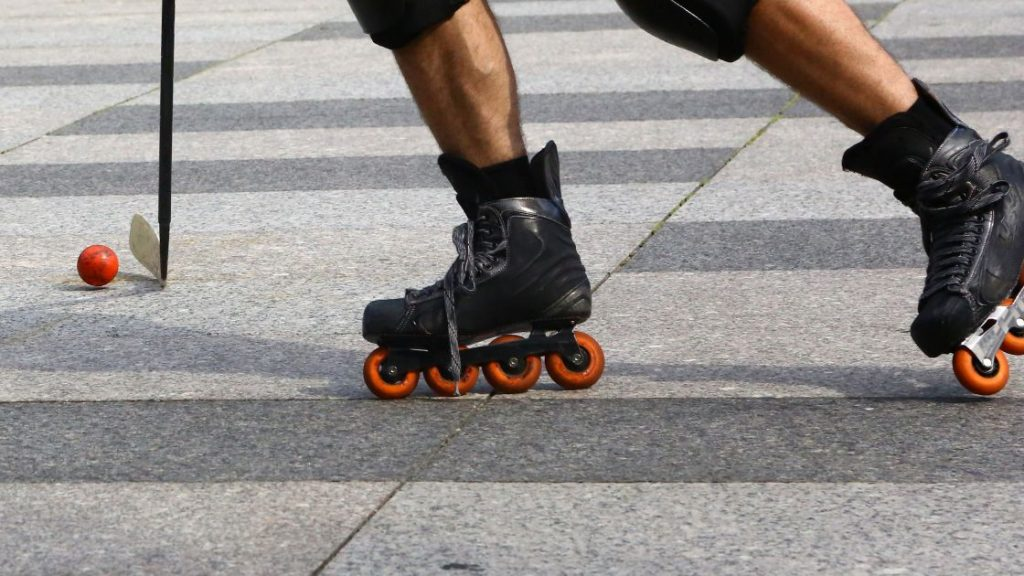 Stopping on Inline Skates