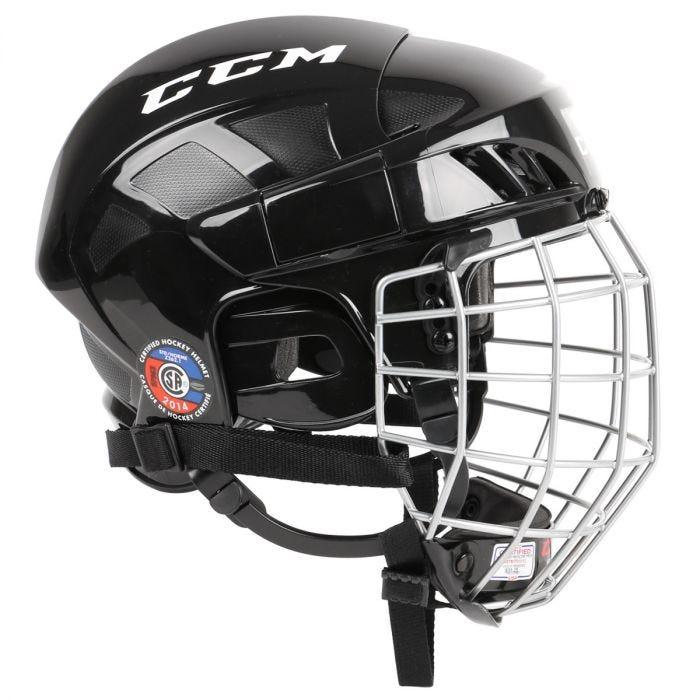 CCM FitLite FL40 Senior Hockey Helmet Combo